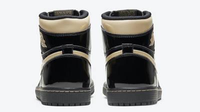 Jordan 1 High OG Patent Black Gold Back