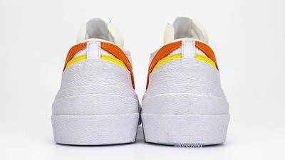 sacai x Nike Blazer Low Magma Orange DD1877-100 Back