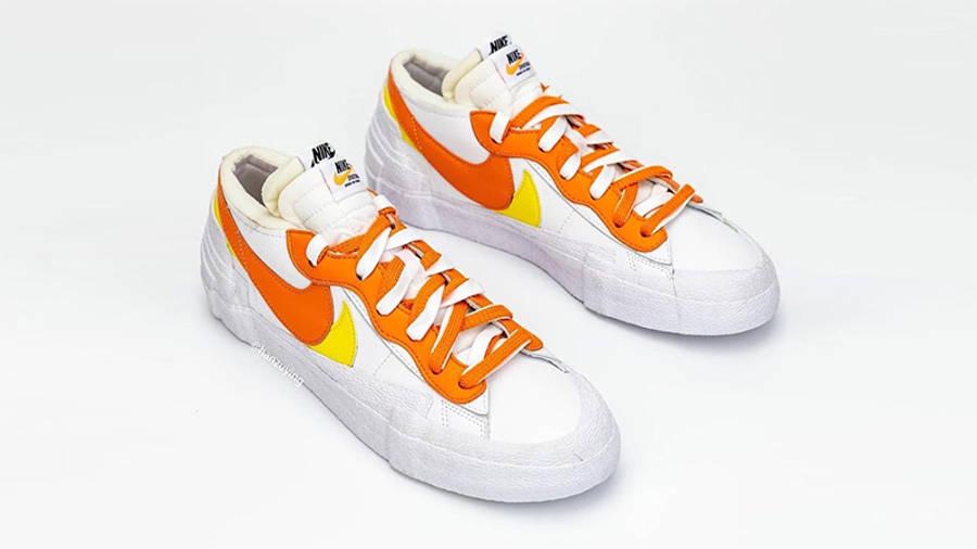 sacai x Nike Blazer Low Magma Orange DD1877-100 Side 2