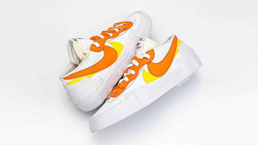 sacai x Nike Blazer Low Magma Orange DD1877-100 Side