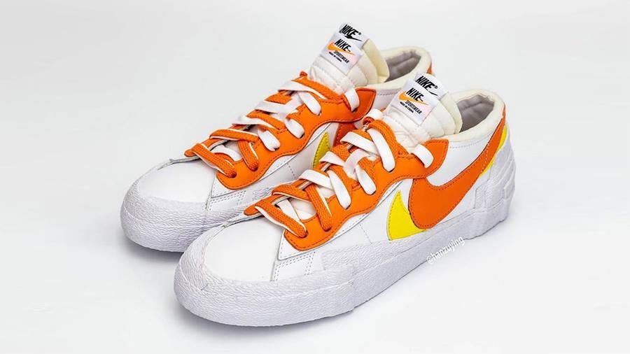 sacai x Nike Blazer Low Magma Orange DD1877-100 Top