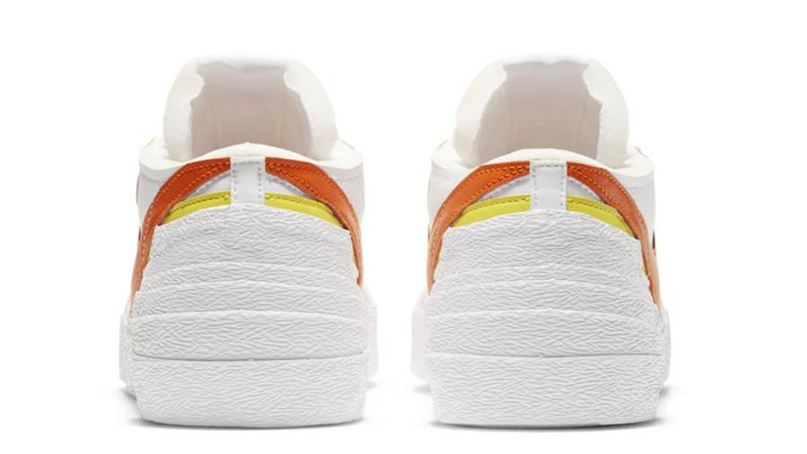 sacai x Nike Blazer Low White Magma Orange Back