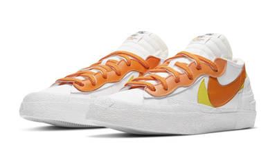 sacai x Nike Blazer Low White Magma Orange Front