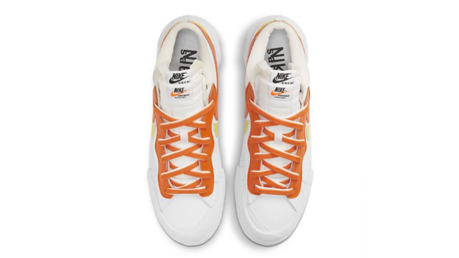 sacai x Nike Blazer Low White Magma Orange Middle