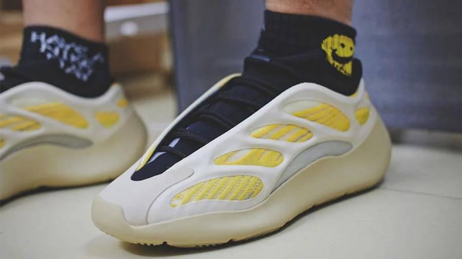 Yeezy 700 V3 Safflower On Foot