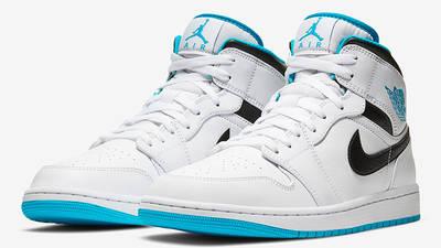 Jordan 1 Mid Laser Blue 554724-141 front
