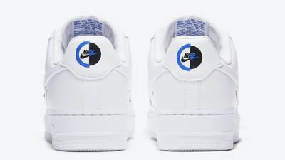 Nike Air Force 1 07 LX Chrome Swooshes White Back