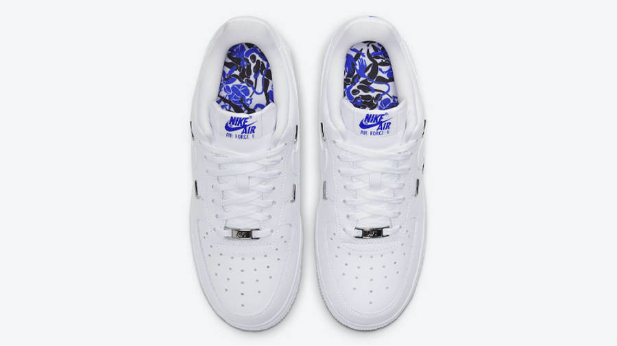 Nike Air Force 1 07 LX Chrome Swooshes White Middle