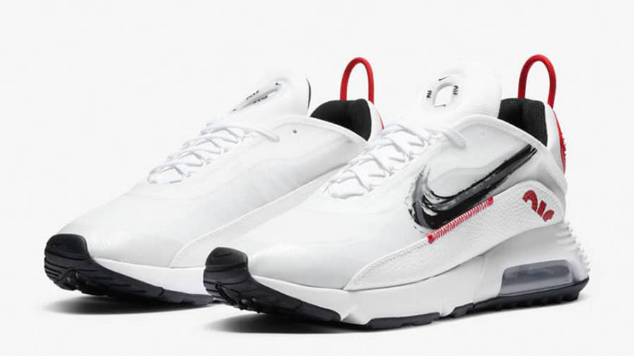 Nike Air Max 2090 White Red Black DA4304-100 front
