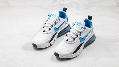 Nike Air Max 270 React White Blue Grey CT1280-101 front