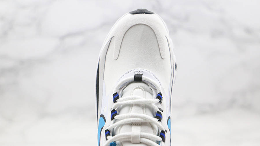 Nike Air Max 270 React White Blue Grey CT1280-101 middle