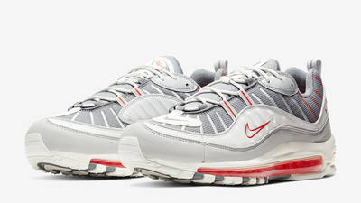 Nike Air Max 98 Grey Habanero Red Front