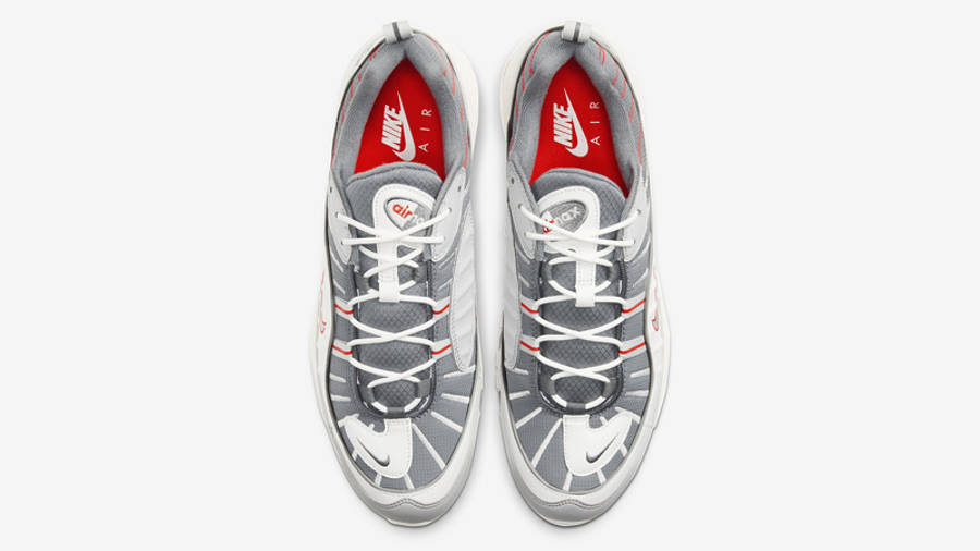 Nike Air Max 98 Grey Habanero Red Middle