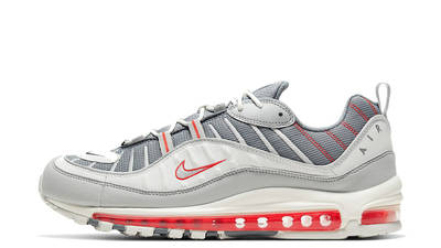 Nike Air Max 98 Grey Habanero Red