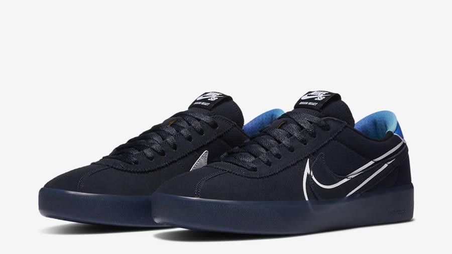 Nike SB Bruin React T Dark Obsidian Front