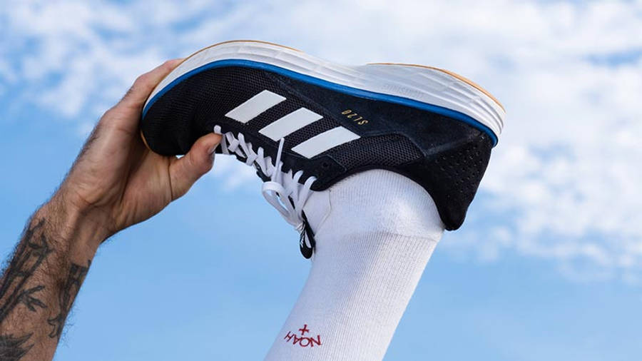 Noah x adidas SL20 Black Blue On Foot