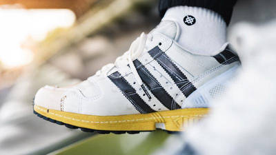 adidas ZX 8000 Superstar White Black On Foot Side