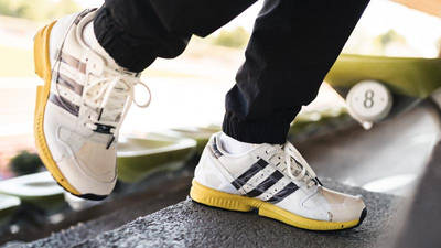 adidas ZX 8000 Superstar White Black On Foot