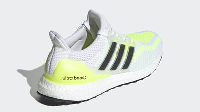 adidas Ultra Boost 2.0 DNA White Solar Yellow Back