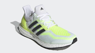 adidas Ultra Boost 2.0 DNA White Solar Yellow Front