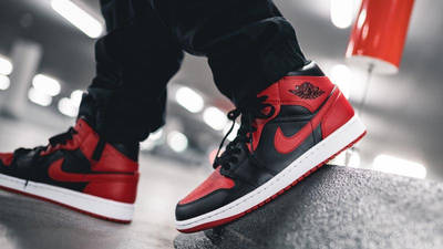 Jordan 1 Mid Bred On Foot