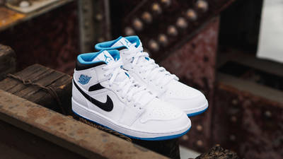 Jordan 1 Mid Laser Blue Lifestyle