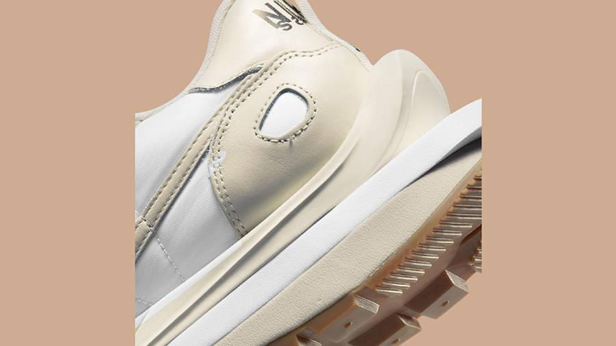 sacai x Nike VaporWaffle White Sail DD1875-100 Back Detail