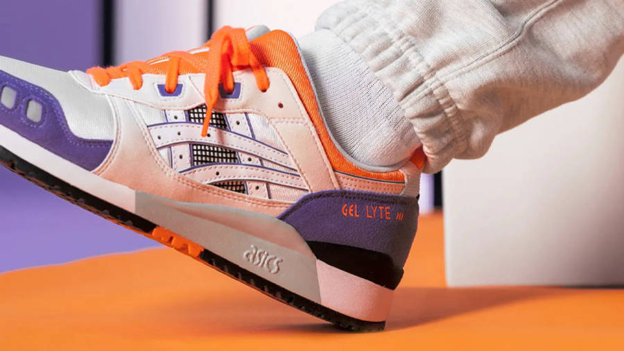 ASICS GEL-Lyte 3 OG Orange Purple On Foot Side