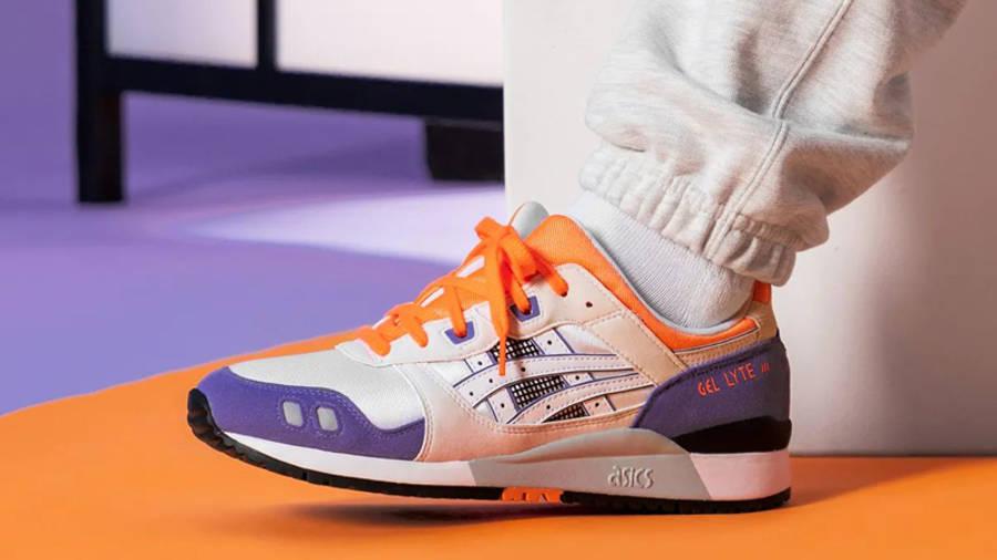 ASICS GEL-Lyte 3 OG Orange Purple On Foot