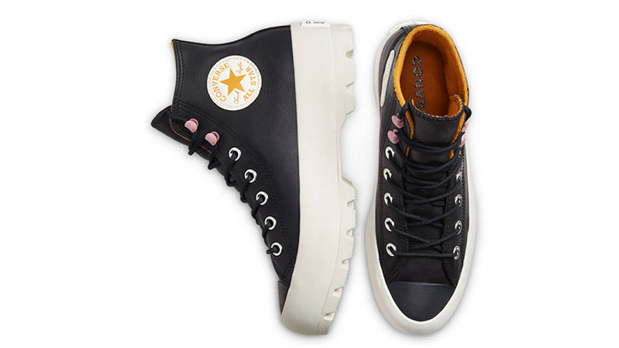 Converse Chuck Taylor All Star Lugged Winter High Top Black Saffron 568763C middle
