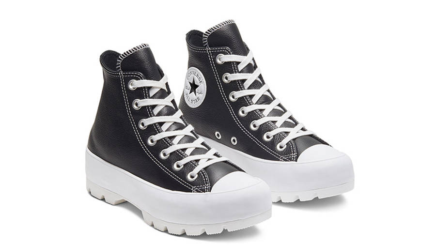 Converse Chuck Taylor All Star Lugged Winter High Top Black White 567164C front