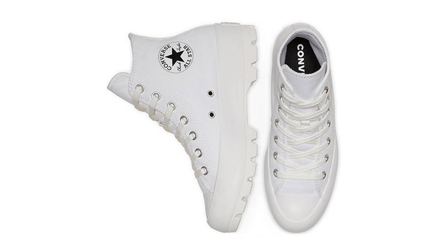 Converse Chuck Taylor All Star Lugged Winter High Top White Black 565902C middle