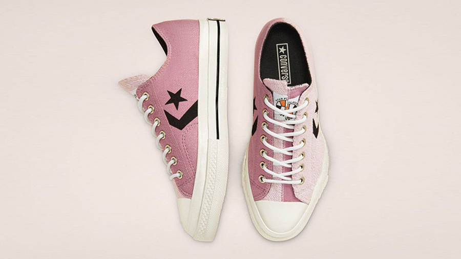 Converse Ox Star Player Reverse Terry Lotus Pink 168755C middle