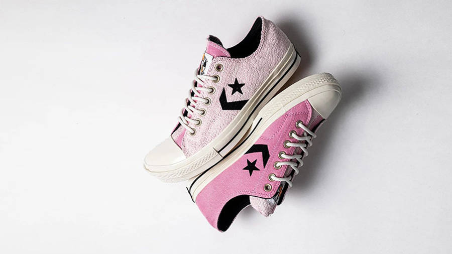 Converse Ox Star Player Reverse Terry Lotus Pink 168755C side by side