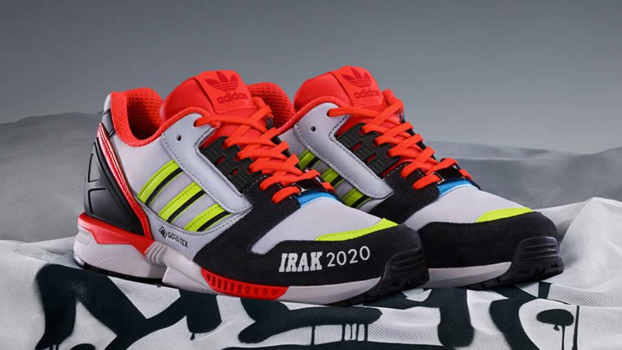 IRAK x adidas ZX 8000 Clear Onix Solar Red Lifestyle