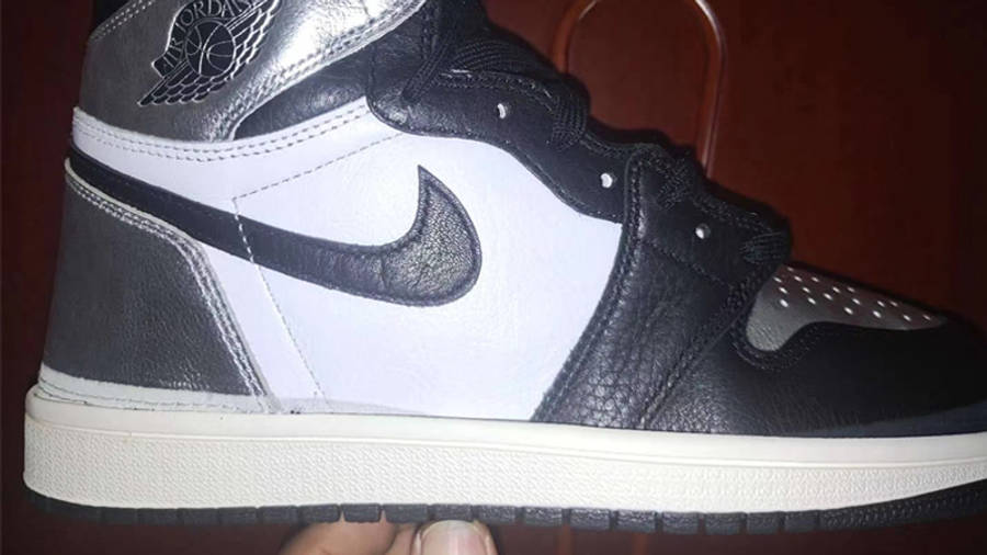 Jordan 1 High OG Metallic Silver In Hand Closeup