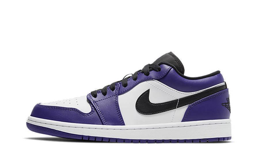 Jordan 1 Low Court Purple White | Where To Buy | 553558-500 ...