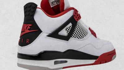 Jordan 4 Fire Red Back