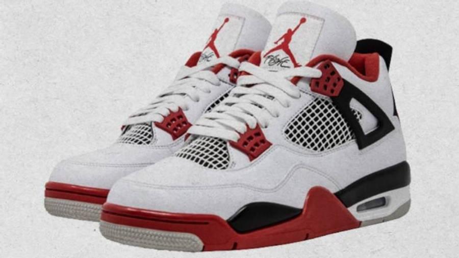 Jordan 4 Fire Red Front Side