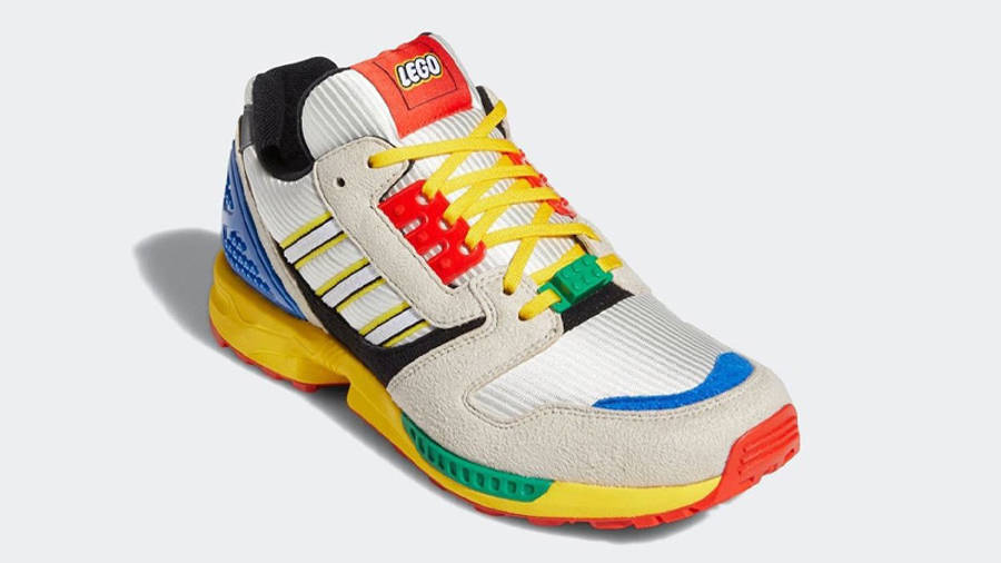 LEGO X adidas ZX 8000 Yellow Blue Front