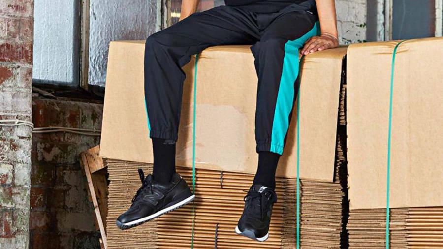 New Balance 574 Black White On Foot