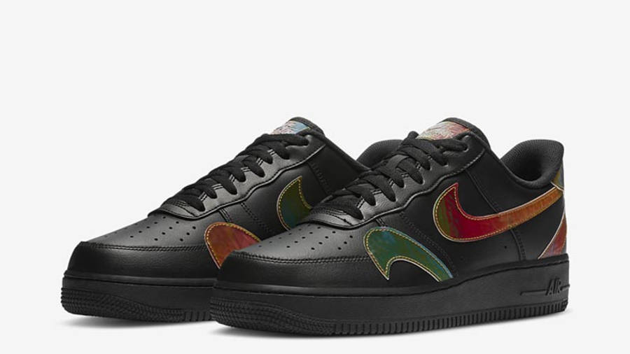 Nike Air Force 1 Misplaced Swoosh Black Front