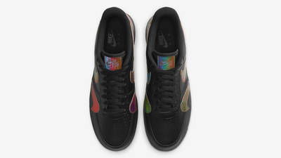 Nike Air Force 1 Misplaced Swoosh Black Middle
