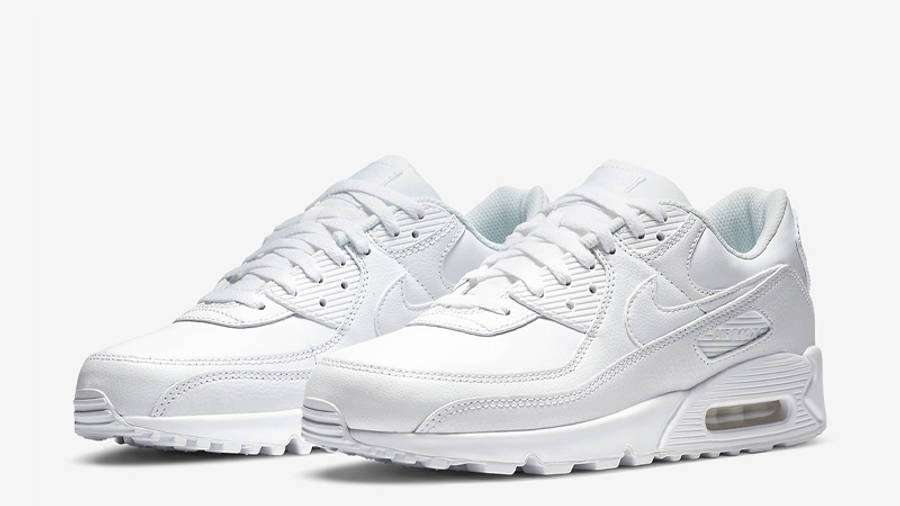 Nike Air Max 90 LTR Triple White | Where To Buy | CZ5594-100 | The ...