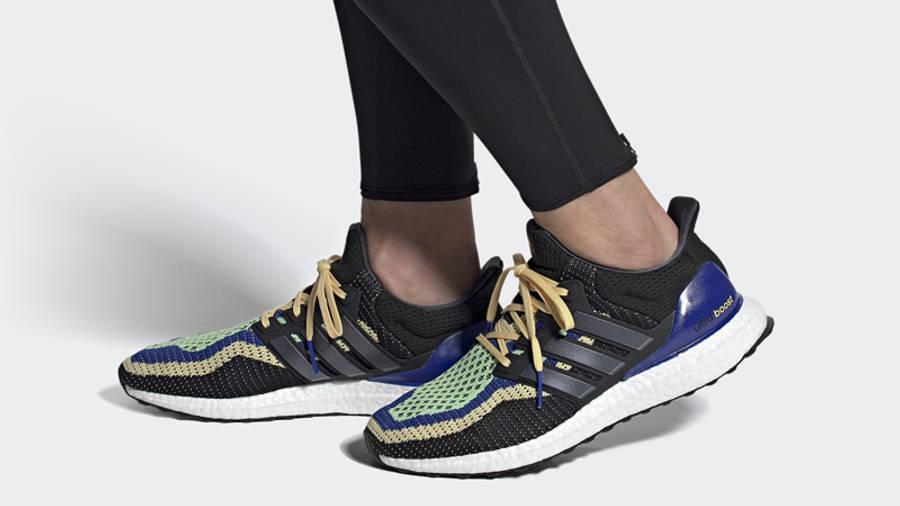 adidas Ultra Boost DNA Black Glory Mint On Foot