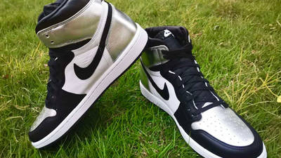 Jordan 1 High OG Metallic Silver Lifestyle Slanted