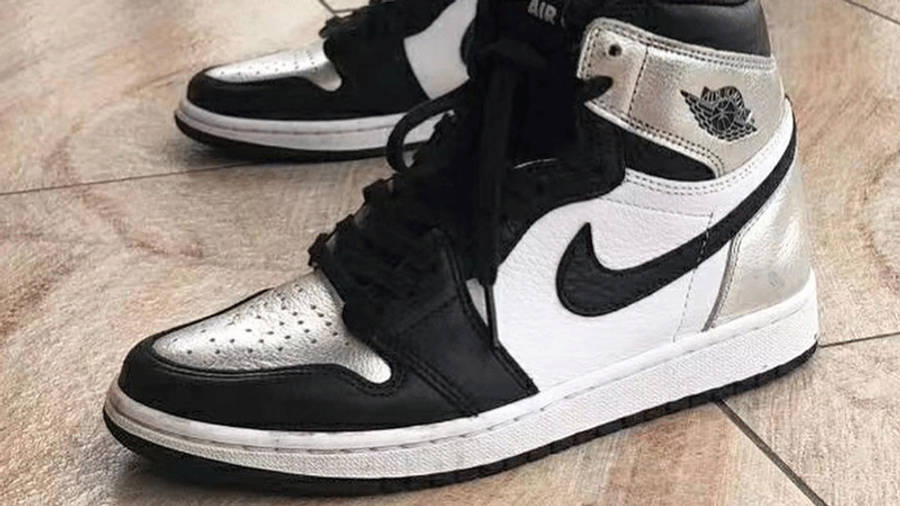 Jordan 1 High OG Metallic Silver On Foot Side