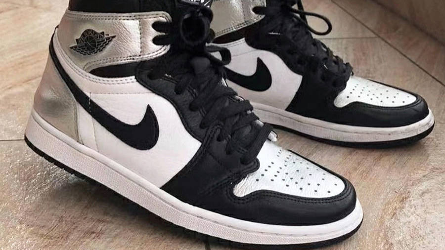Jordan 1 High OG Metallic Silver On Foot