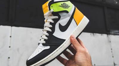 Jordan 1 High Volt Gold In Hand
