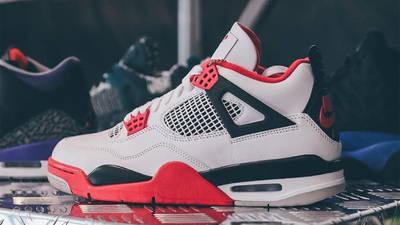 Jordan 4 Fire Red Detailed Look